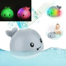 Sprinkler Whale Bath Toy With Led Lights Children Whale Electric Inducti... - $30.37+