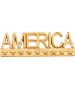"""14K Gold """"America"""" Lapel Pin in 14K Yellow or White Gold - $174.99"""