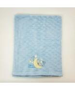 Zak & Zoey Blue Sweet Dreams Baby Blanket Moon Bear Stars Security Boy B350 - $24.99