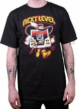 Neff Herren Next Level Electronics Schwarz Grafik T-Shirt Nwt
