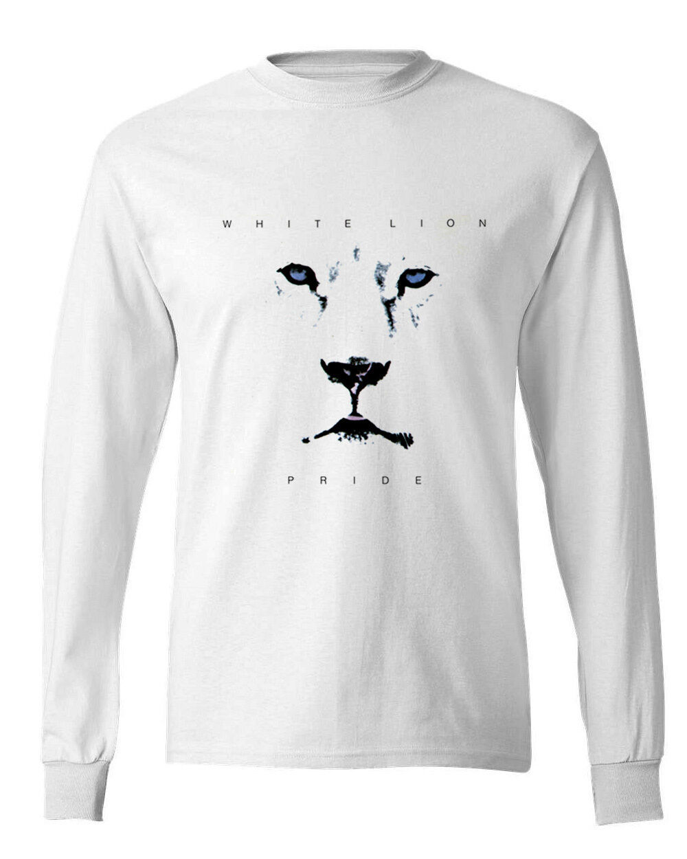White Lion Pride T-shirt retro 80s heavy metal 100% cotton Long Sleeve tee