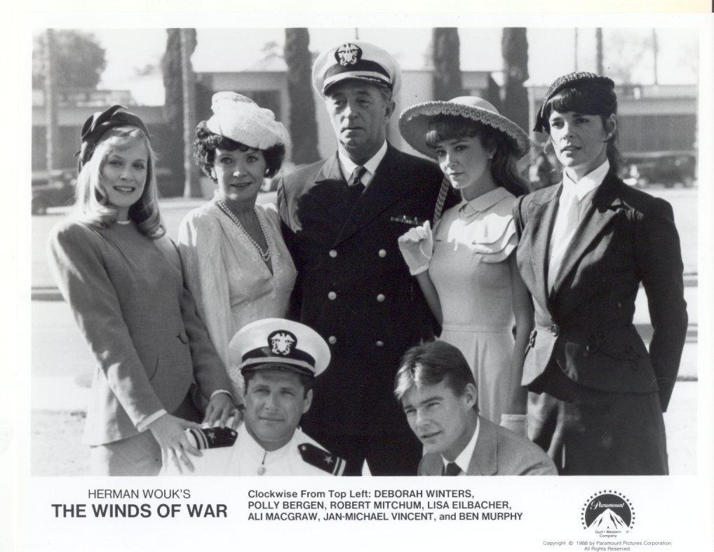 7 Winds of War Press Promo Publicity Photos TV Film Movie Wouk Robert Mitchum