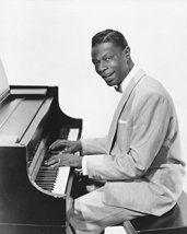 Nat King Cole On Piano B&W 16x20 Canvas Giclee - $69.99