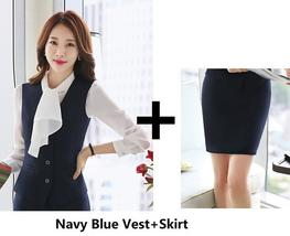Women's Fashion Career Apparel High Quality 3 Piece Formal Business Pant Suits image 13