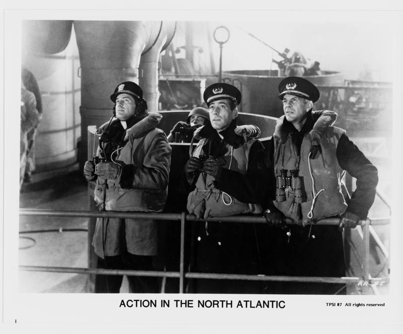Action in the North Atlantic Humphrey Bogart Raymond Massey Press Photo Movie