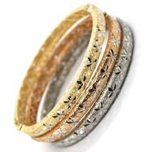 Bracelet en or 750 18K, Jaune ou Blanc ou Rose, Rigide, Lavoration Nid, ... - $1,471.06