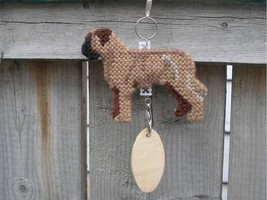 Bullmastiff dog crate tag or hang anywhere decor, handmade kennel accessory art - $20.00