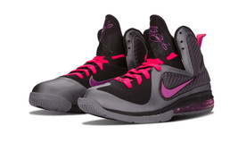 "Nike Lebron 9 ""Miami Nights"" GREY/GRAPE/CHERRY Men Size 13 New 469764 002 - $308.54"