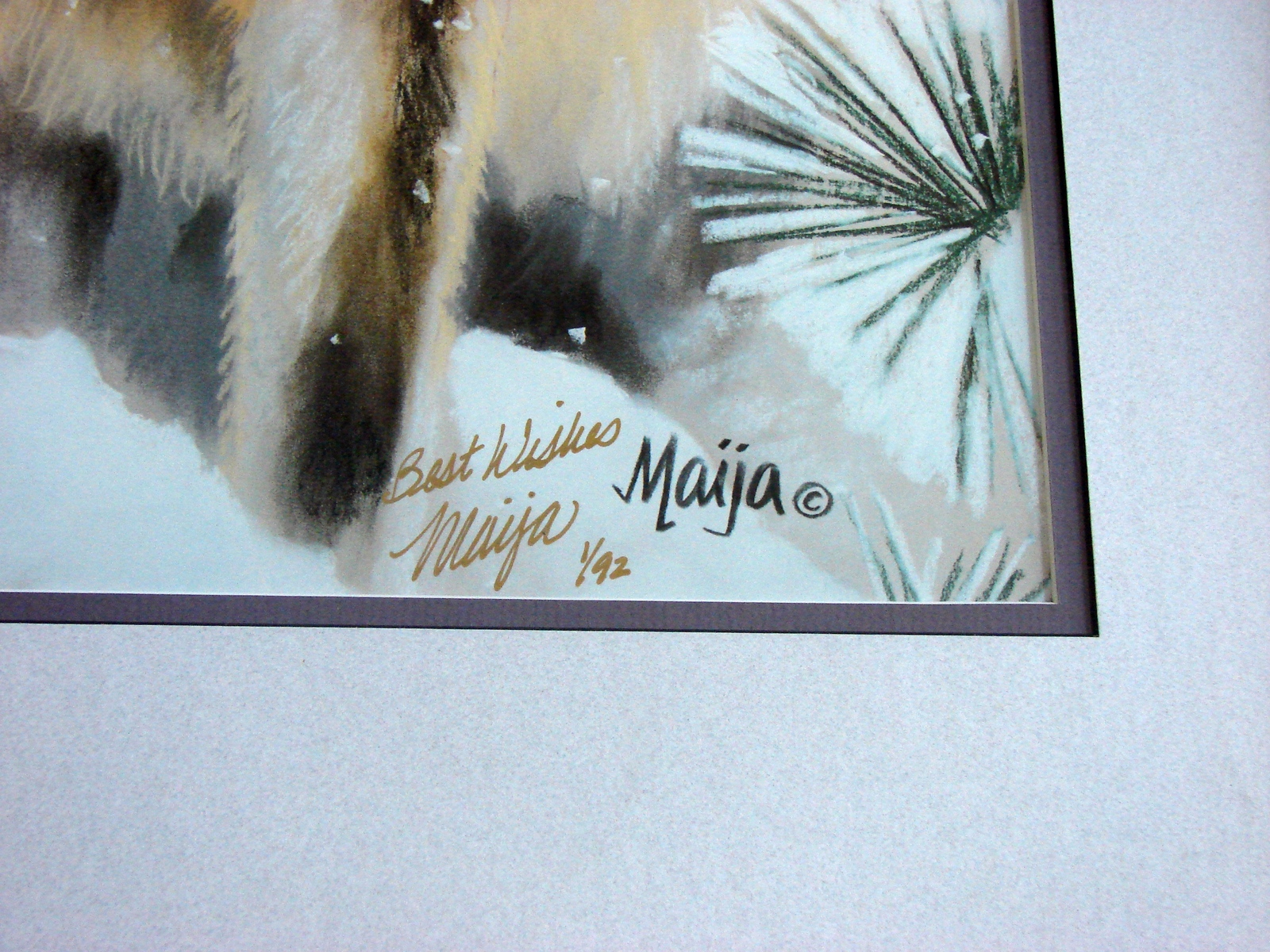 "Maija Signed and Inscribed Limited Edition Number 1/92 Print, ""Silent Partners"""