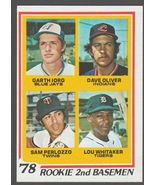 Detroit Tigers Lou Whitaker Rookie Card RC 1978 Topps 703 Indians Blue J... - $7.99