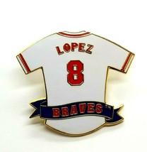 VTG Atlanta Braves 8 Javier Lopez Jersey Baseball Uniform Enamel MBA Lap... - $15.60