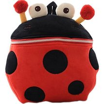 Infant Knapsack Baby Children Backpack Prevent From Getting Lost Red Beetle