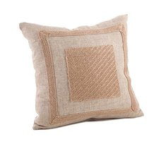 Fennco Styles Classic Striped Jute Fringed Design Throw Pillow - 6 Style... - $43.55