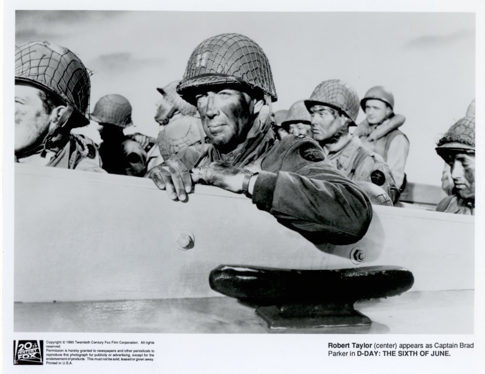 D-Day The Sixth of June Robert Taylor DDay Press Photo #2 Movie Still