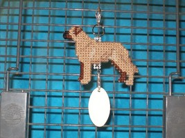 Rhodesian Ridgeback dog crate tag or hang it anywhere, handmade kennel accessory - $19.00