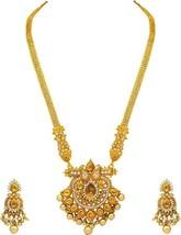 LCT Indian Ethnic Pearl Kundan Gold Plated Wedding Necklace Set Fashion ... - $28.47