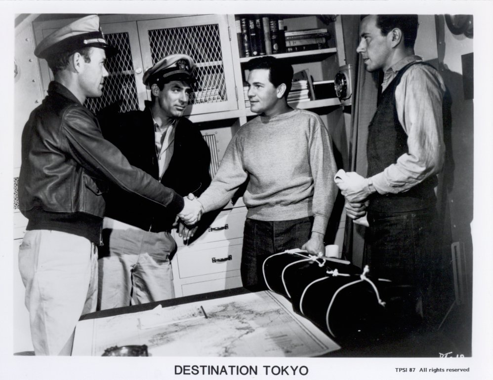 Destination Tokyo Press Cary Grant John Garfield Promo Publicity Photo