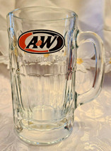 "Vintage A&W Heavy Thick Glass Mug With Handle 6"" Tall"