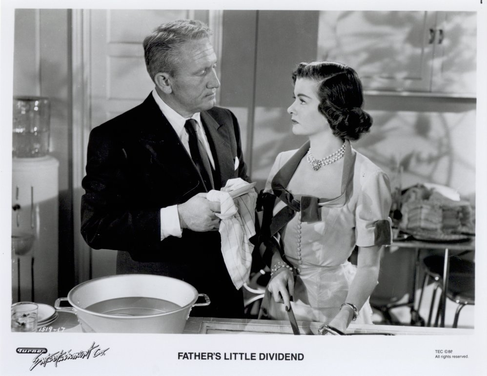 Father's Little Dividend Spencer Tracy Joan Bennett Press Promo Photo