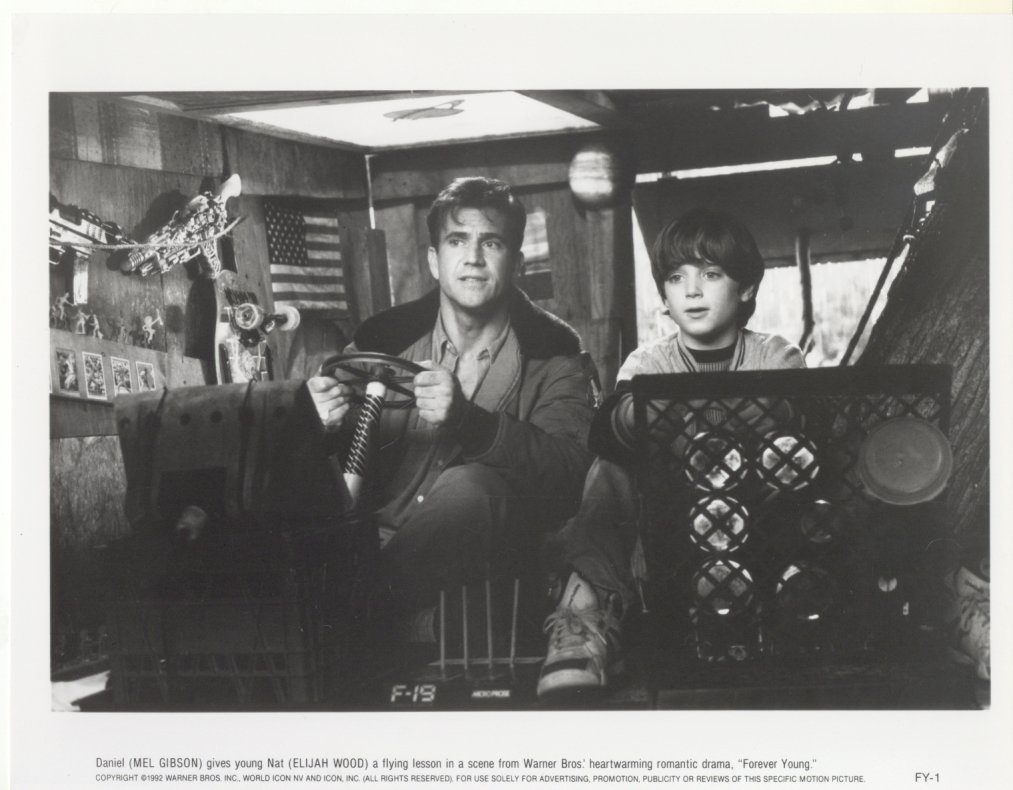 Forever Young Mel Gibson Elijah Wood Warner Brothers Press Photo Movie Still