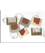 Handmade Blank Note Gift Cards Hang Tags Earth Tones Brown Green Beige L... - $4.00