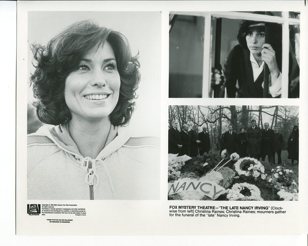 Fox Mystery Theatre Late Nancy Irving Press Photo Christina Raines TV Movie