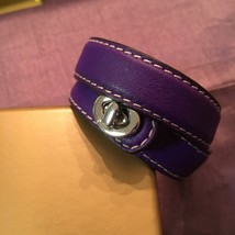 Coach Leather Strappy Bracelet Purple/silver NWOT  Free Shipping - $89.99