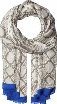 Calvin Klein Silk Snakeskin Print Scarf Gray - $50 - NWT - $23.75