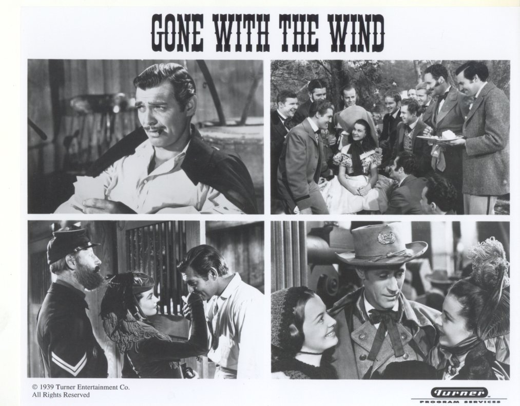 Gone With the Wind Clark Gable Vivian Leigh Olivia DeHavilland 4-Up Press Photo