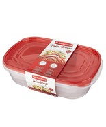 Rubbermaid TakeAlongs Large Rectangular Food Storage Containers,1 Gallon... - $9.99