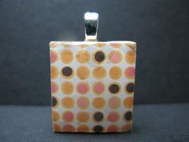Dots - Scrabble Tile Pendant - $5.00