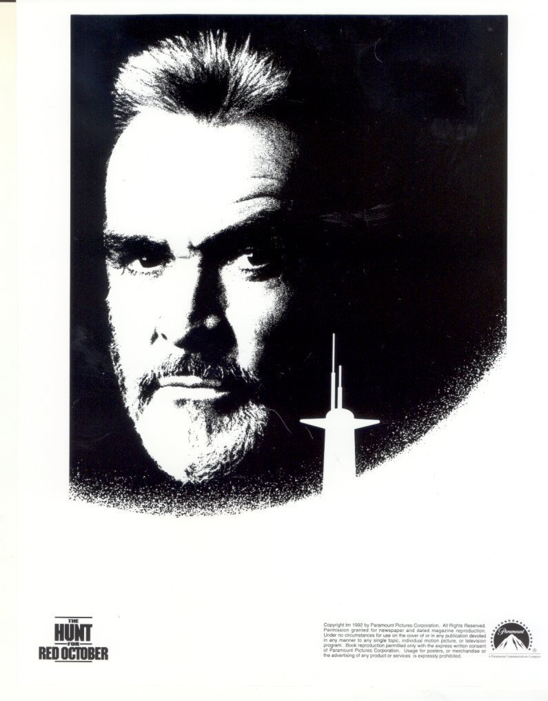 Hunt for Red October Sean Connery Poster Art Press Photo Movie