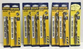 """(New) Irwin High Speed Steel 25/64"""", 27/64"""", 29/64"""", 31/64"""" Drill Bit  Set - $50.48"""