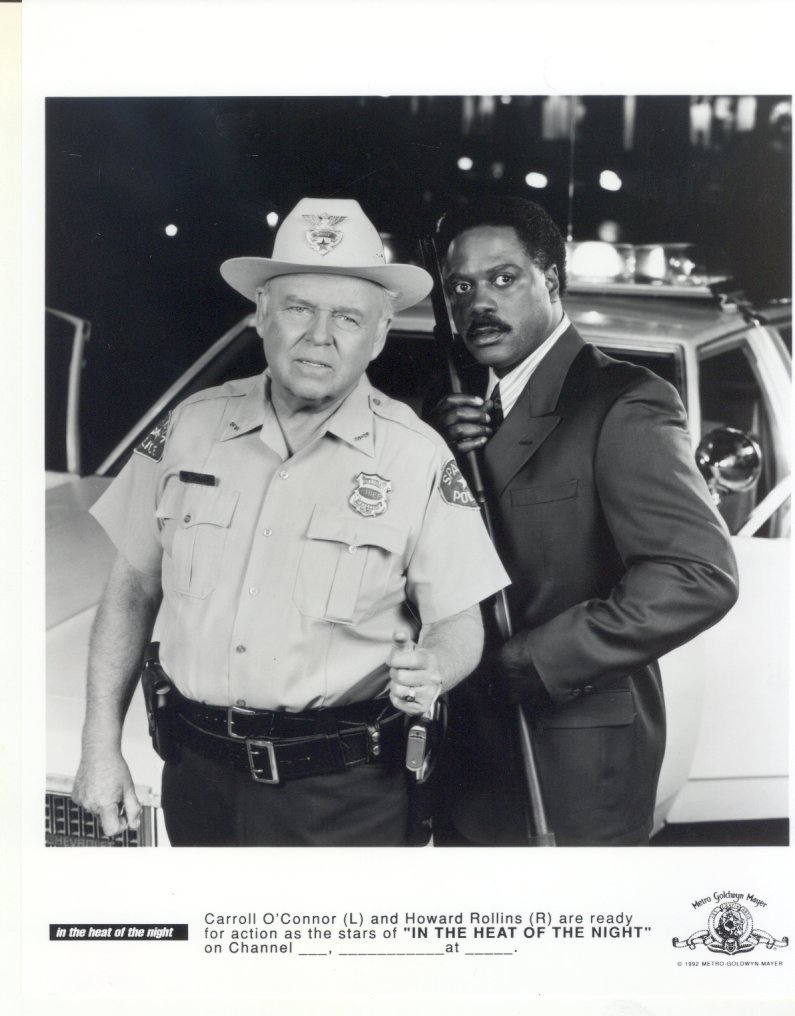 In the Heat of the Night Carroll O'Connor Howard Rollins MGM Press Photo TV 1992