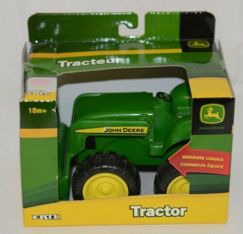John Deere TBEK37558 Green Tractor Working Loader 18 Months