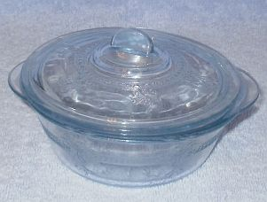Primary image for Vintage Fire King Sapphire Blue Individual Casserole with Lid