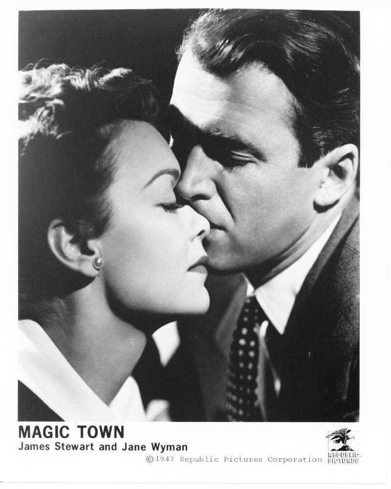 Magic Town James Stewart Jane Wyman Republic Press Photo #2 Movie Jimmy