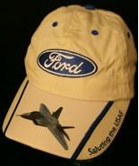Ford AirVenture Saluting USAF adjustable Light Khaki Tan Dad Cap Hat Pat... - $19.95