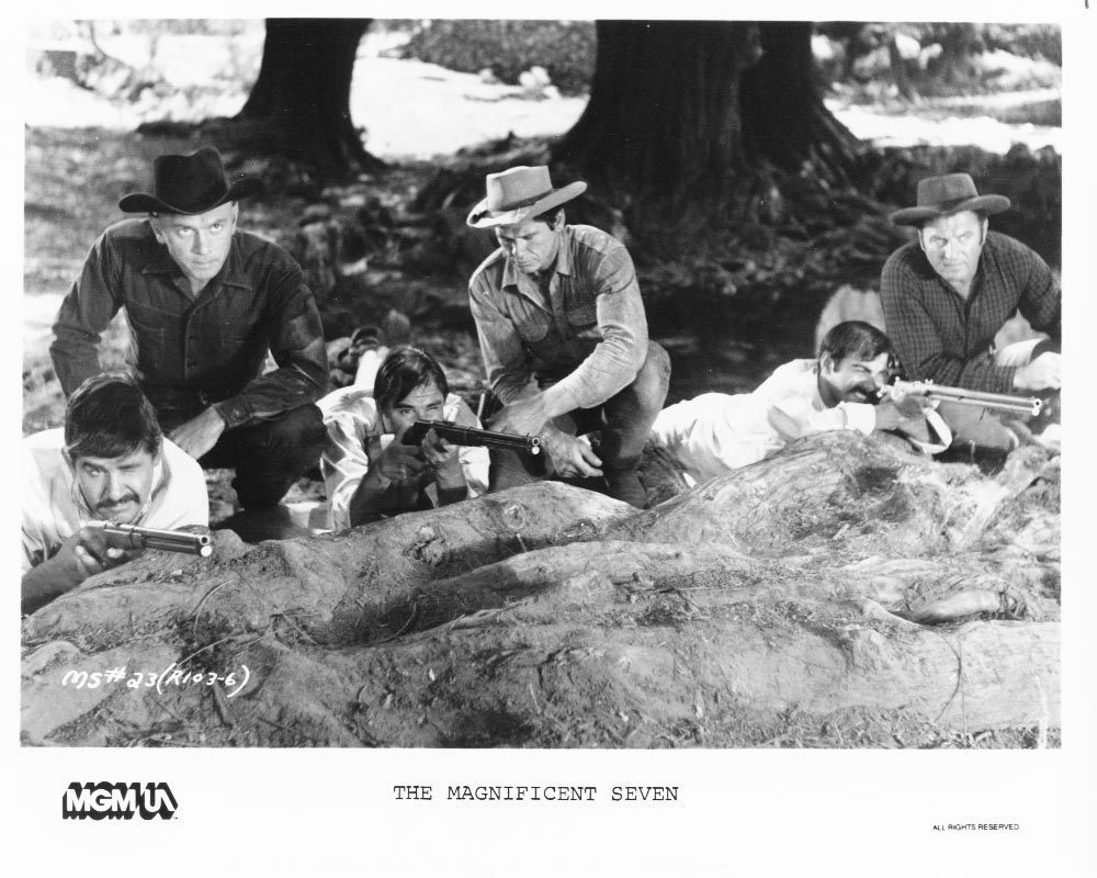 Magnificent Seven Yul Brynner Charles Bronson MGM/UA Press Photo Movie