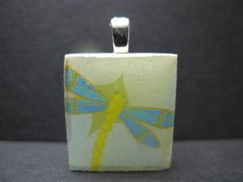 Dragonfly - Scrabble Tile Pendant - $5.00