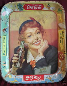 Primary image for Old Vintage COCA COLA COKE Tray Souvenir War Woman Lady Collector Collectible