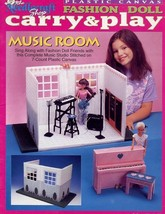 Music Room Carry & Play fits Barbie Doll Plastic Canvas PATTERN BOOKLET - $6.27