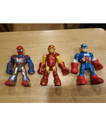 "Marvel Captain America Iron Man Spider-man 6"" Playskool Action Figures 2... - $7.99"