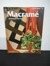 "Vintage 1975~""Macrame Techniques & Projects"" Instruction Booklet - $10.95"