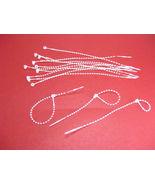 "1000 Pcs ADJUSTABLE 5"" Plastic Tags Loop Snap Lock  Fasteners No Tag Gun... - $12.97"