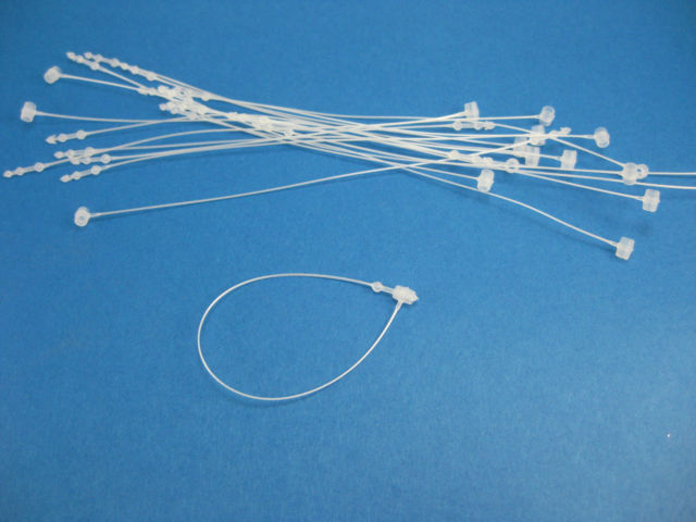 "Primary image for 20,000 Pcs WHITE COMBO 3"",5"",7"",9"" Plastic Tags Loop Fasteners Snap Lock Pins"