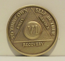 Alcoholic 6 Year Recovery 6 Yr Chip Medallion Coin Medal Token  AA Anony... - $7.88