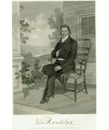 19th c. Steel Engraving JOHN RANDOLPH  Virginia... - $10.00