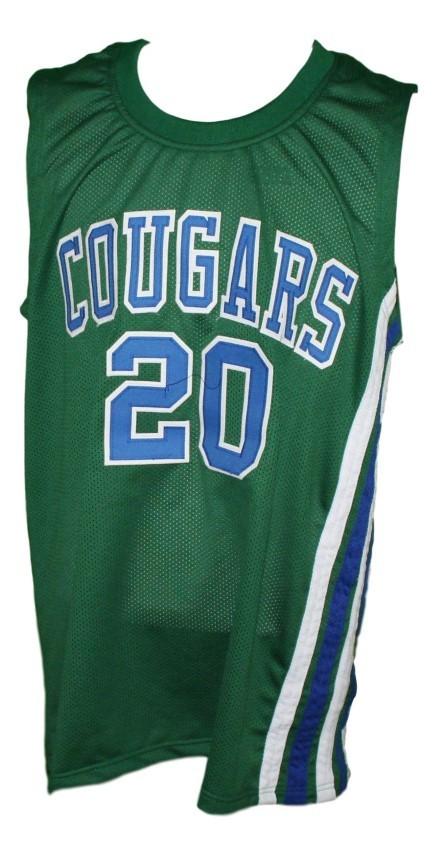 Marc calvin  20 carolina cougars aba retro basketball jersey green   1