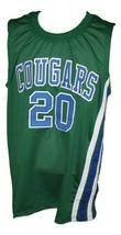 Marc Calvin #20 Carolina Cougars Retro Aba Basketball Jersey New Green Any Size image 1